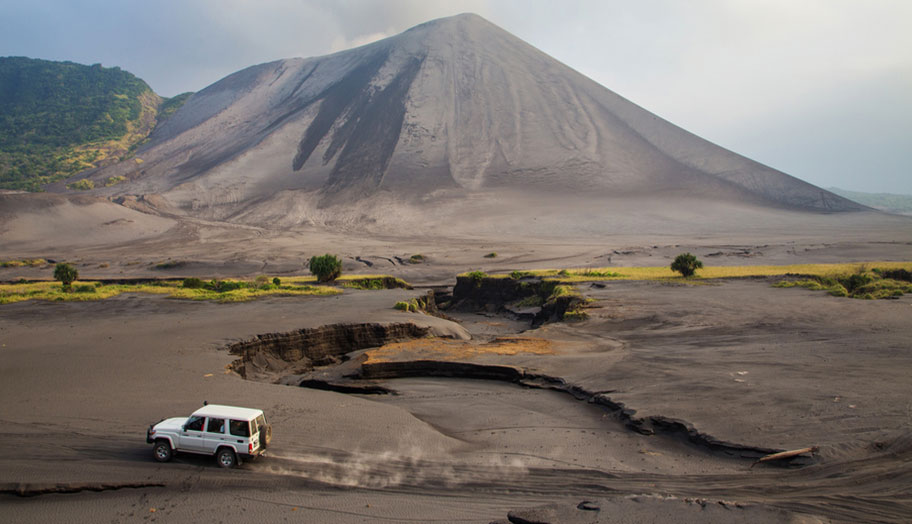 Vulkan Vanuatu Auto Reise