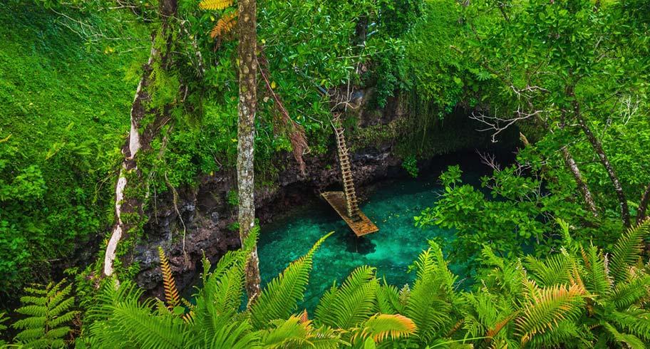 Badepots auf Samoa