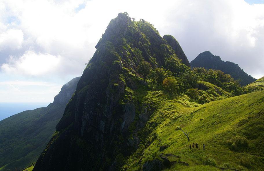 Berg Fiji Wanderung