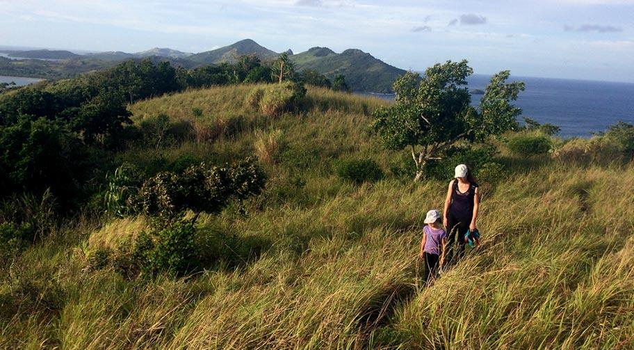 Familie Wanderung Fiji Islands