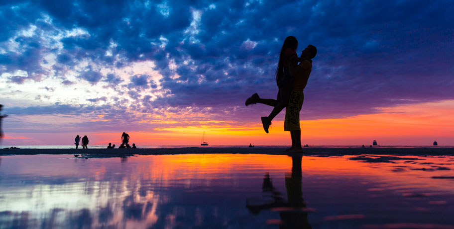 Fiji Honeymoon Sonnenuntergang