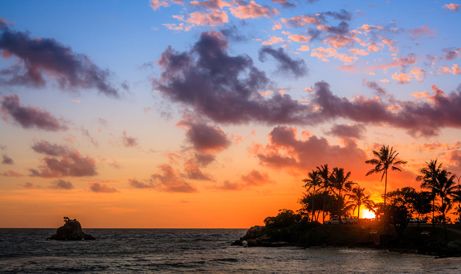 Sonnenuntergang Neukaledonien Honeymoon