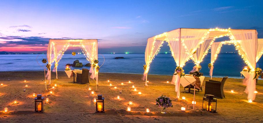 Candle Light Dinner Beach Südsee