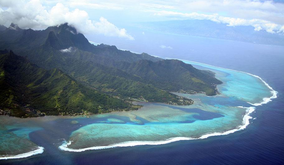 Südsee Island Hopping Tahiti Luftaufnahme