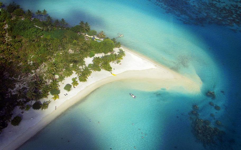 Top Strände der Südsee Matira Beach Bora Bora