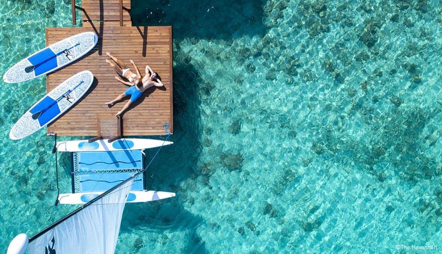 Vanuatu Flitterwochen Wasserbungalow