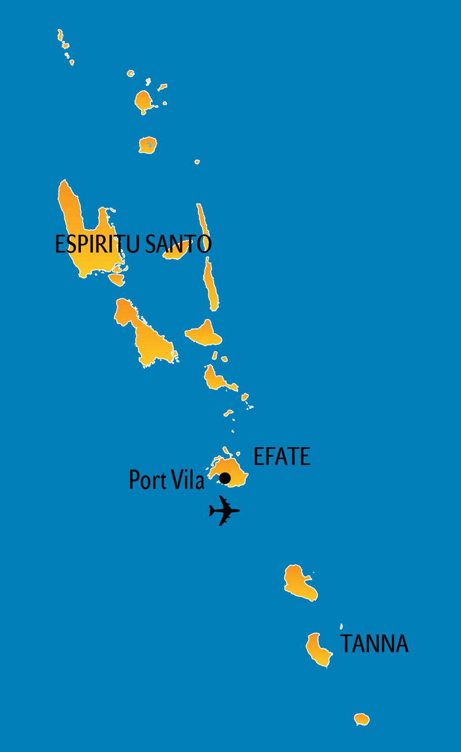 Vanuatu Karte Südsee