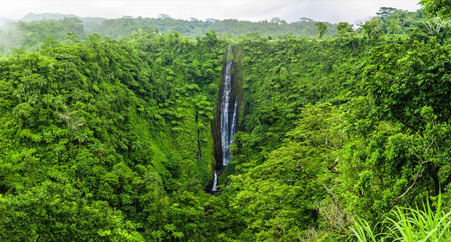 Samoa Aktivferien Wanderungen Wasserfälle